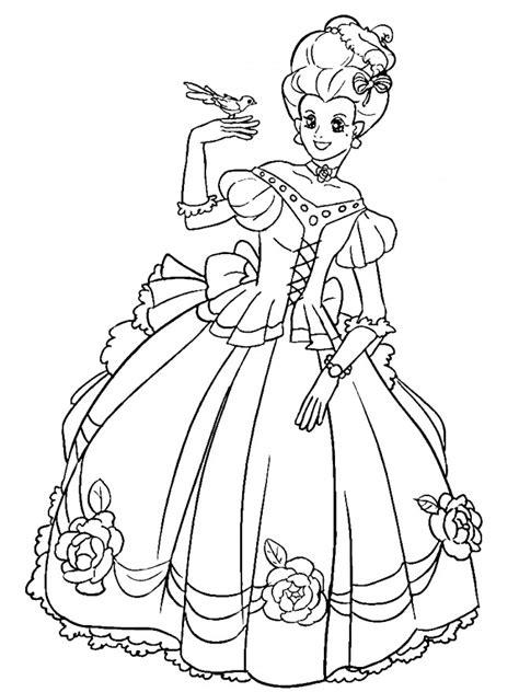 coloriage princesse facile dessin gratuit  imprimer