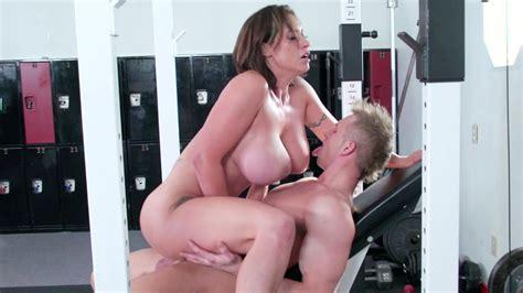 fitness instructor nestles between overflowing tits movie eva notty milf fox
