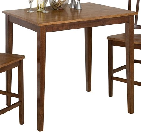 espresso counter height table kura espresso and canyon gold counter height dining table