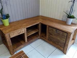 meuble fait en palette de bois With meubles en palettes de recuperation