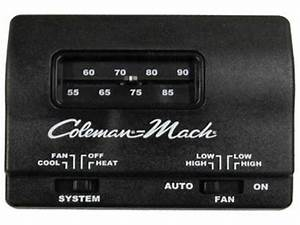 Coleman 12v Heat  Cool Black Thermostat