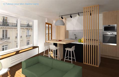 ilot central dans cuisine avant après optimiser l espace avec une cuisine ouverte