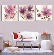 Living Room Canvas Art by Abstract Flowers Canvas Painting Prints Wall Art For Living Room Picture Home