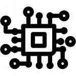 Icon Tech Circuit Technology Clip Breaker Icons