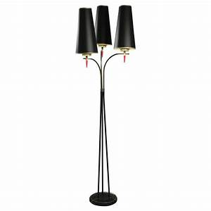 standing floor lamp from the 1960s in metal paint and With painting metal floor lamp