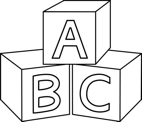 Images Of Abc Blocks Coloring Pages Summer