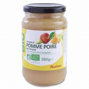 Compote Poire Pomme : compote pomme poire auchan 380 g shoptimise ~ Nature-et-papiers.com Idées de Décoration