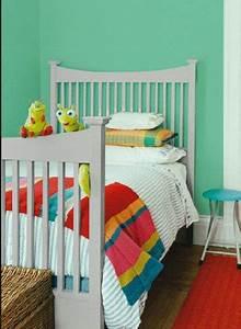 Peinture Vert De Gris : peinture chambre enfant grise et vert ripolin ~ Melissatoandfro.com Idées de Décoration