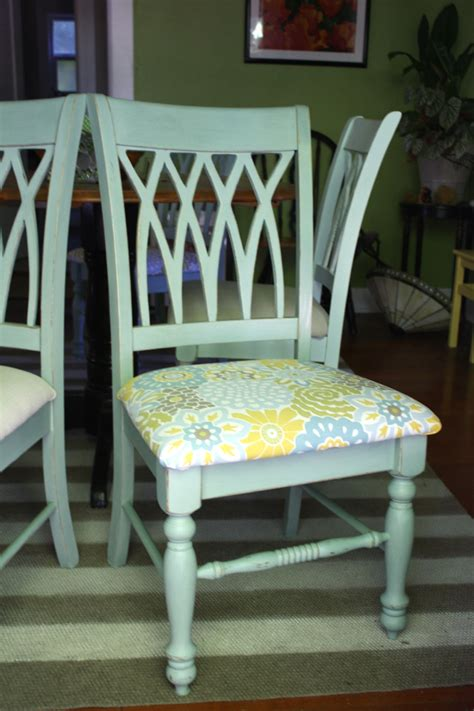 new fabric seat covers for the dining chairs