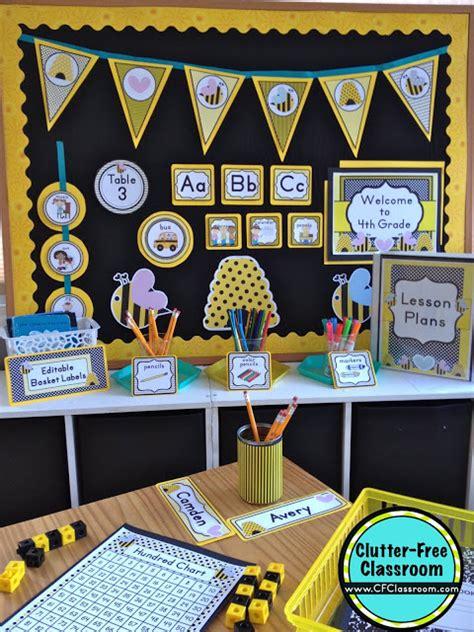 bees themed classroom ideas printable classroom