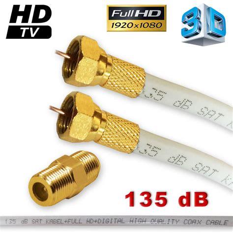 sat kabel 20m 20m sat kabel hd verl 228 ngerungskabel 135 db vergoldet f stecker plus f verbinder