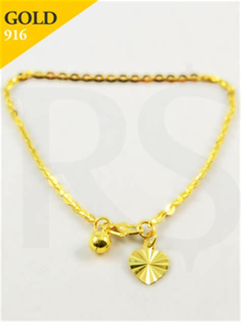 Design Malaysia Price by Bracelet Polo 916 Gold 2 9 Gram Buy Silver Malaysia