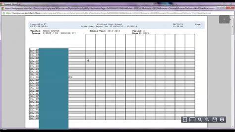 blank grade sheet report form skyward youtube