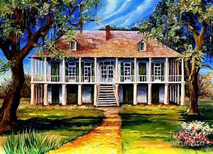 Old Louisiana Plantation Painting by Diane Millsap