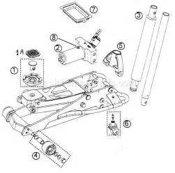 2 Ton Aluminum Racing Floor Jack by Floor Jack Diagram