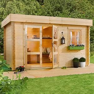 Gartenhaus Von Bauhaus : blockbohlenhaus lounge 1 inklusive montageservice grundfl che 8 5 m wandst rke 28 mm ~ Whattoseeinmadrid.com Haus und Dekorationen