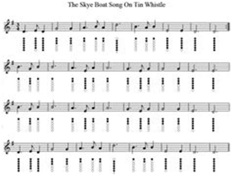 Skye Boat Song The Session by We Wish You A Merry Christmas Sheet Music For Tin Whistle