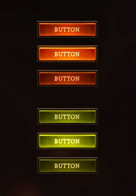 fantasy buttons  evil  game user interface gui ui