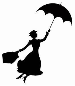 Mary poppins silhouette ...   Disney in black & white ...