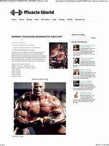 Ronnie Coleman Workouts And Diet   Muscle World