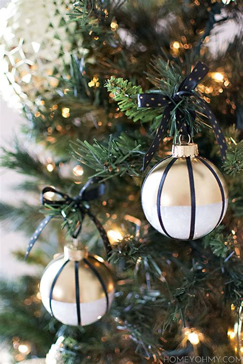 black gold christmas ornaments homey oh my diy home decorating and crafts