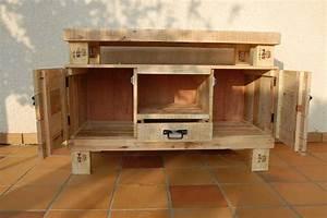 Palette De Bois : meuble de palette interesting meuble en palette de bois ~ Premium-room.com Idées de Décoration