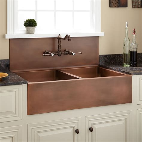 how to restore a copper sink 36 quot christina double bowl farmhouse sink with high