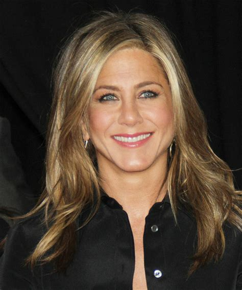 jennifer aniston long straight dark blonde hairstyle