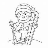Outline Coloring Fumetto Sci Cartoon Della Sports Winter Azzurro Ragazza Coloritura Profilo Pensionante Imbarco Esercitazione Scheda Gli Pagina Ski Sporty sketch template