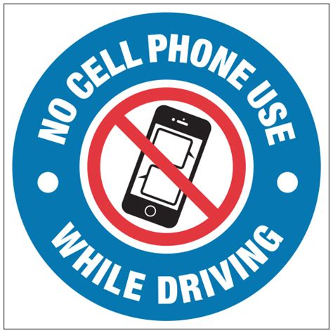 cell phone use while driving no cell phone signs no cell phone use while driving