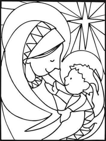 dibujos cristianos de navidad para colorear dibujos