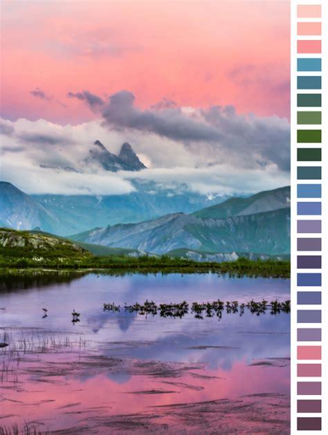 landscape color palette design landscape blue purple colors peach lavender transparent color palette natural palette