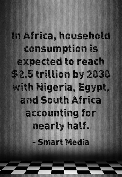 In Africa, household consumption is expected to reach $2.5
