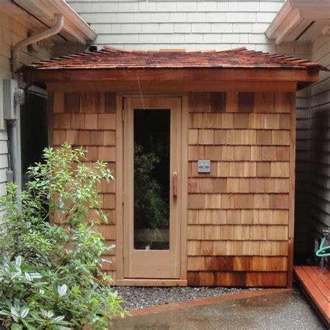 5 X 7 Outdoor Sauna Kit Heater Package Custom Roof