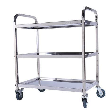 tier stainless steel kitchen storage trolley cart large