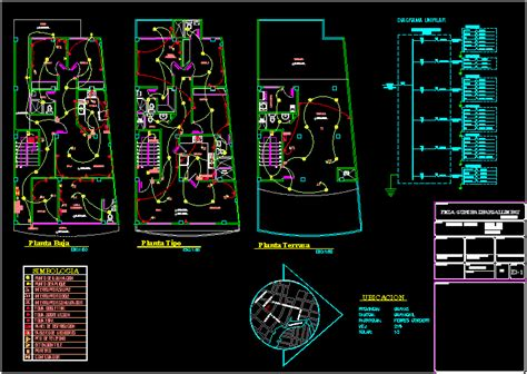 Electrical Installations Plan Rvb Autocad Cad