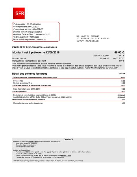 numero appel sfr guide facture mobile sfr