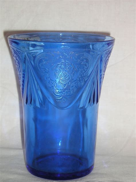 cobalt blue glass l hazel atlas glass cobalt blue royal lace 4 quot tumbler from