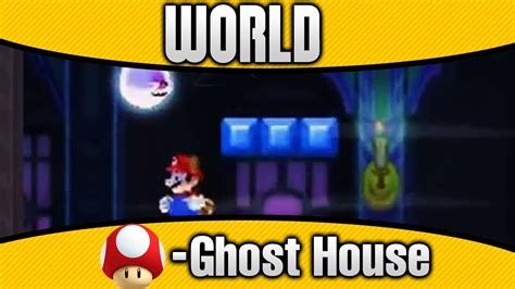 New Super Mario Bros 2 World Mushroom Ghost House 100