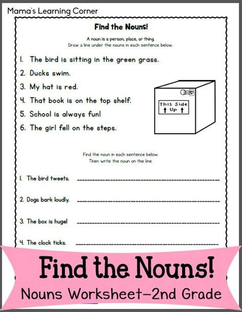 coloring pages kids  printable noun worksheets