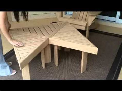 bamboo adirondack chair tables