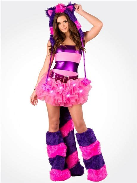 J Valentine Light Up Cheshire Cat Rave Outfit  Cute Sexy