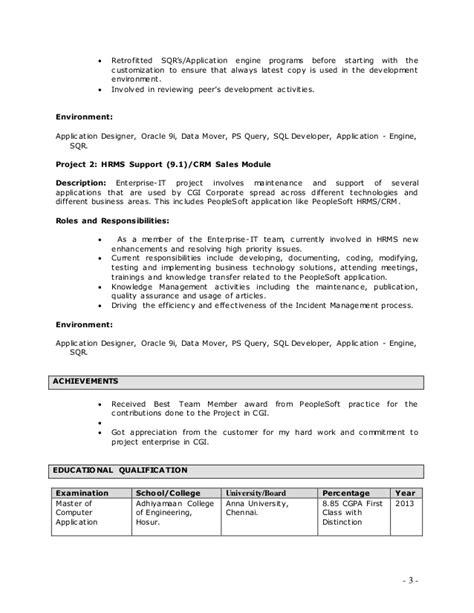 rajeshwaran peoplesoft resume