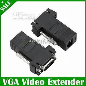 Cat 6 Stecker : gro handel vga video extender stecker auf lan cat5 cat6 rj45 netzwerkkabel buchse adapter von ~ Frokenaadalensverden.com Haus und Dekorationen