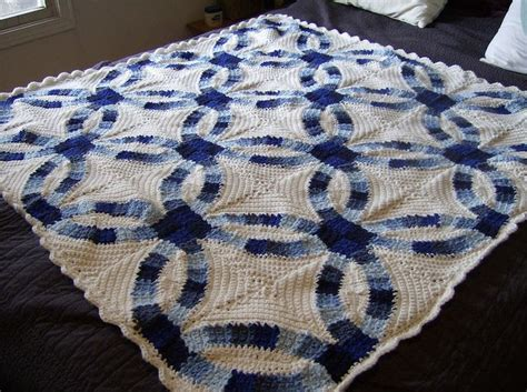 wedding rings blanket pattern by katherine eng crochet
