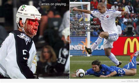 Soccer Hockey Meme - hockey v s soccer funny pinterest hockey and soccer