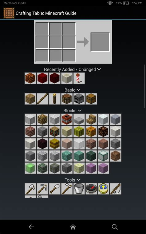 crafting table  minecraft guide amazoncouk appstore