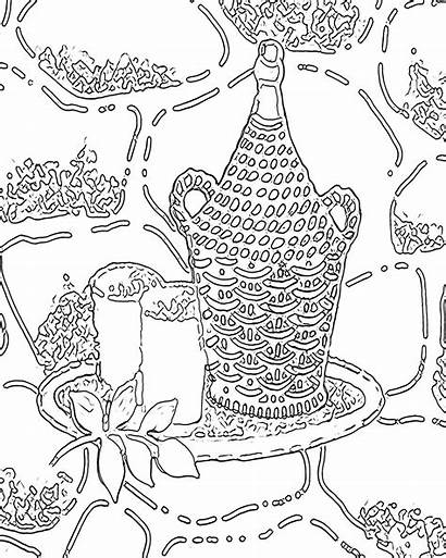 Coloring Pages Printable Adult Adults Abstract