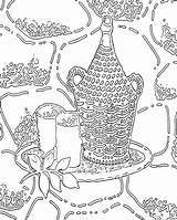 Coloring Printable Adult Adults Abstract sketch template