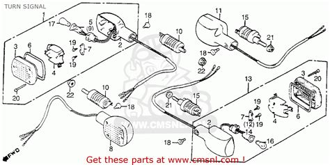 honda vt1100c shadow 1100 1986 g usa california turn signal schematic partsfiche